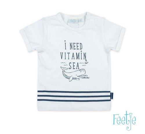 Feetje Feetje wit t-shirt vitamin sea