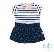 Feetje Feetje blauwe jurk sailor girl