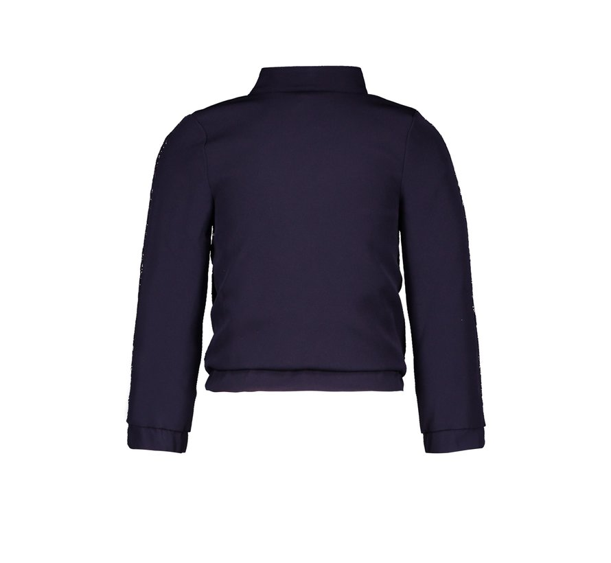 Le chic blauwe bomber jacket