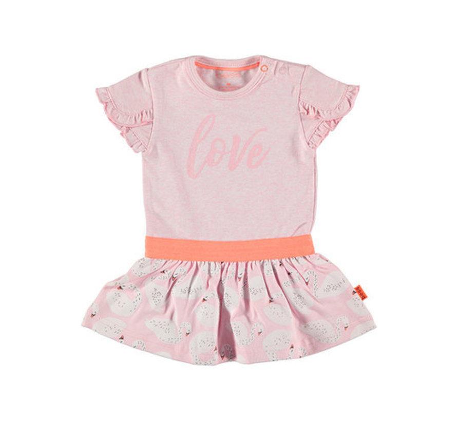 Bess roze jurk love