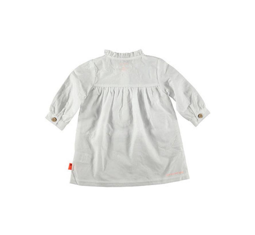 Bess kleedje witte embroidery