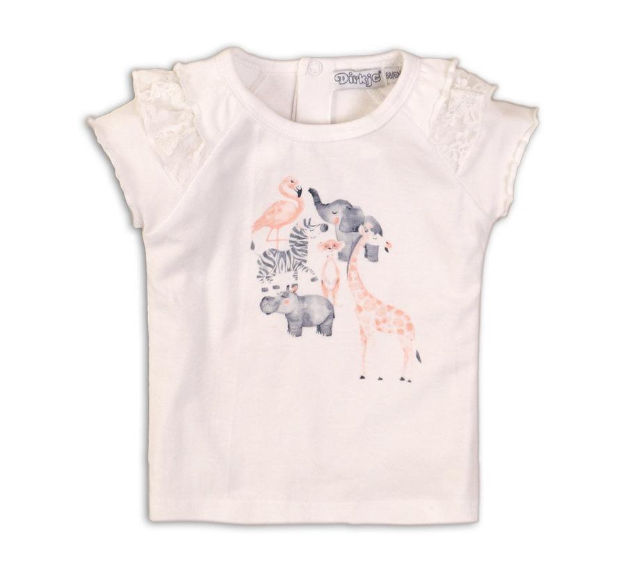 Dirkje wit t-shirt diertjes