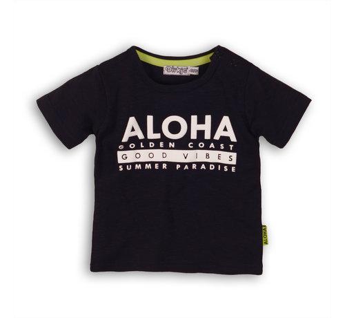 Dirkje Dirkje blauw t-shirt aloha