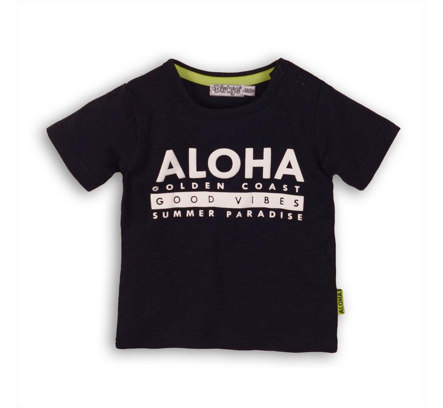 Dirkje blauw t-shirt aloha