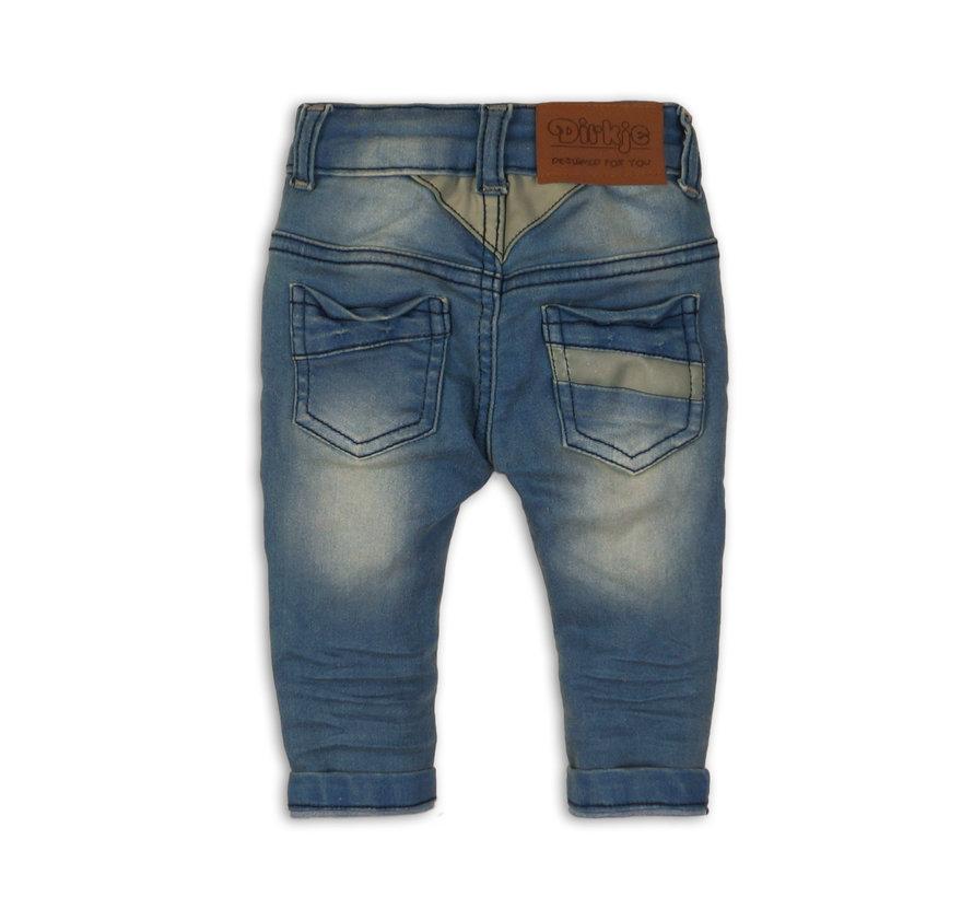 Dirkje blauwe jeans broek