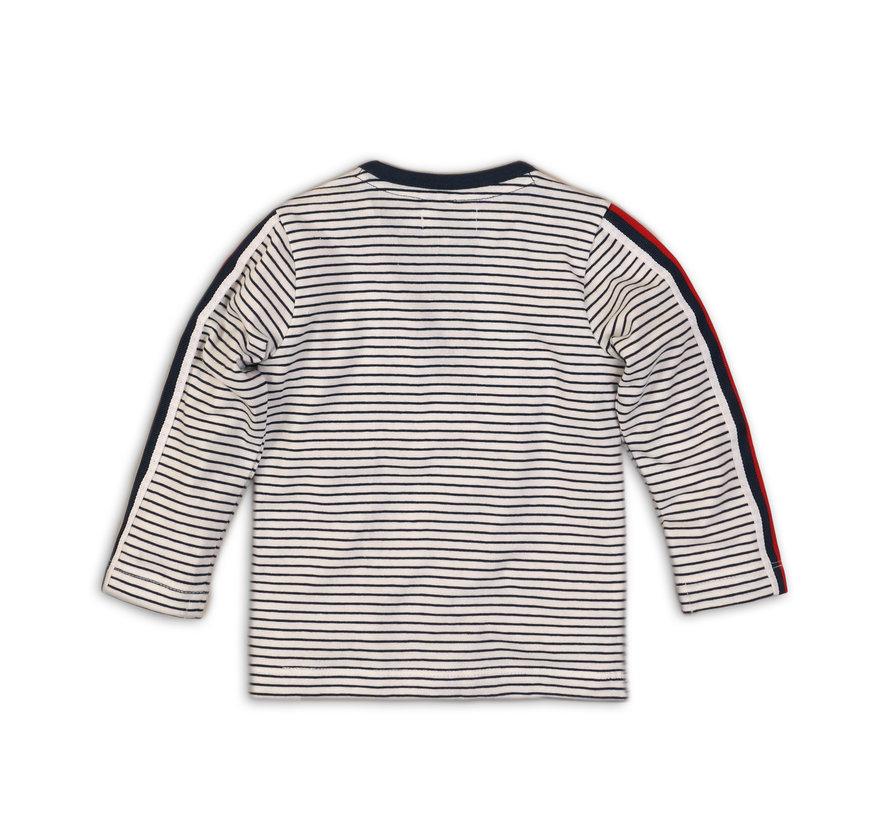 Dirkje gestreepte longsleeve shirt