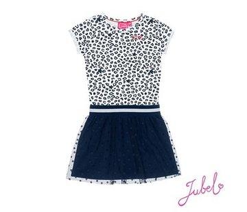 Jubel Jubel blauw leopard kleedje