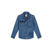 Quapi Quapi blauw jeans hemd