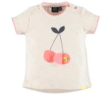 Babyface Babyface wit t-shirt kersen