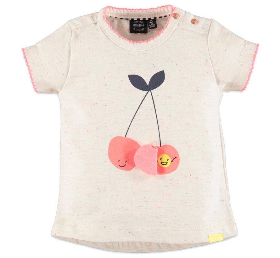 Babyface wit t-shirt kersen