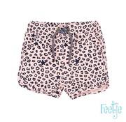 Feetje Feetje roze leopard short
