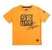skurk Skurk oranje t-shirt blauwe print