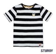 Sturdy Sturdy wit zwart gestreept t-shirt