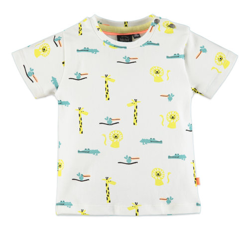Babyface Babyface wit dieren t-shirt