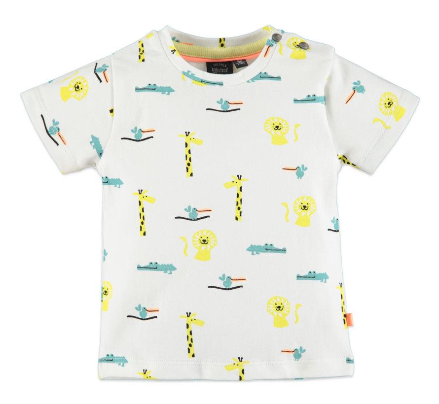 Babyface wit dieren t-shirt