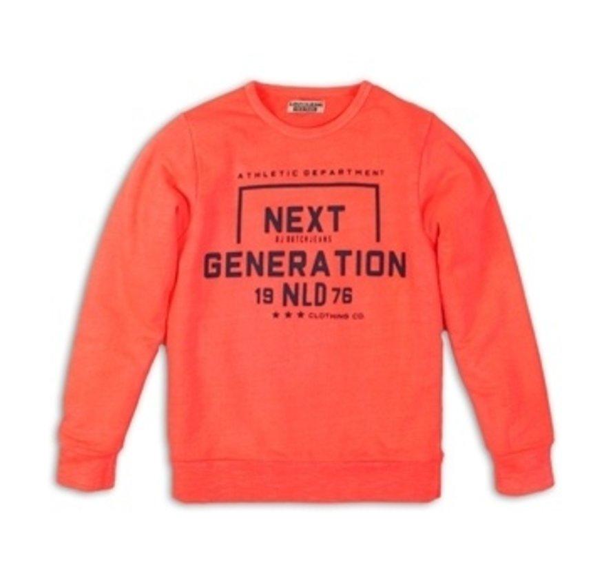 Dj dutch oranje koraal sweater
