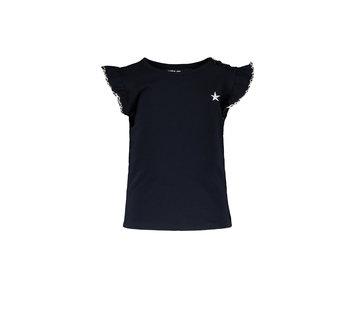 Like Flo Like flo blauw ruffle t-shirt
