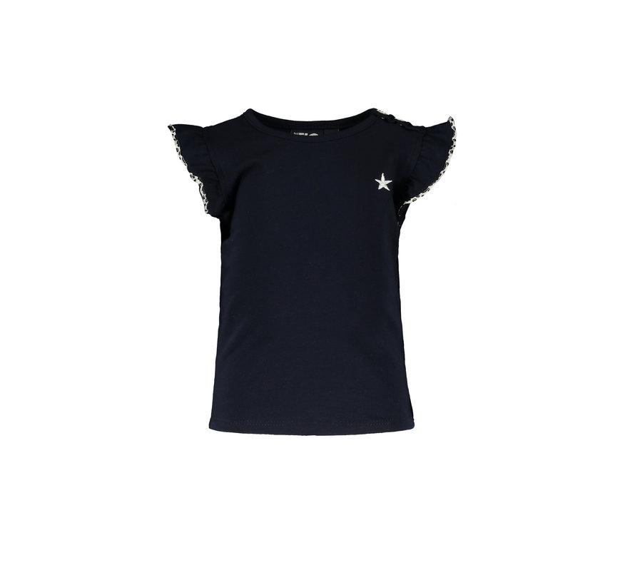 Like flo blauw ruffle t-shirt