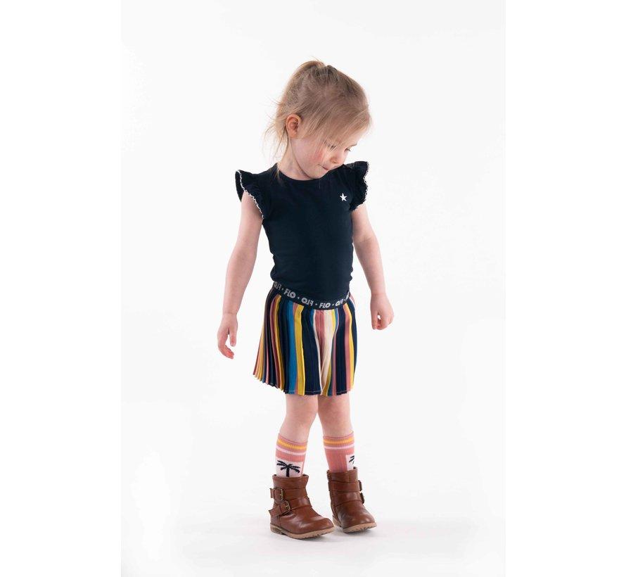 Like flo kleuren plise rok