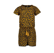 Like Flo Like flo gele leopard playsuit
