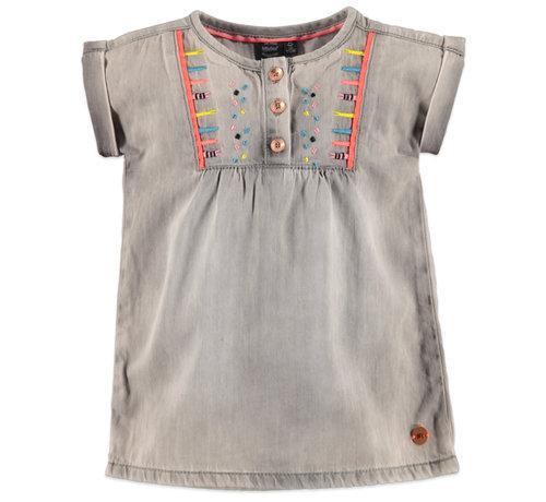 Babyface Babyface grijze jeans jurk