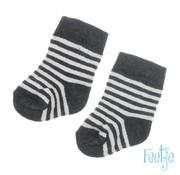 Feetje Feetje wit grijs gestreepte sokken