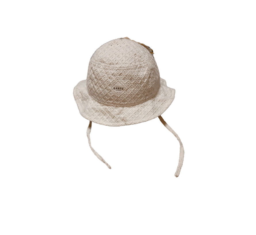 Barts omkeerbare zomerhoed wit gestreept
