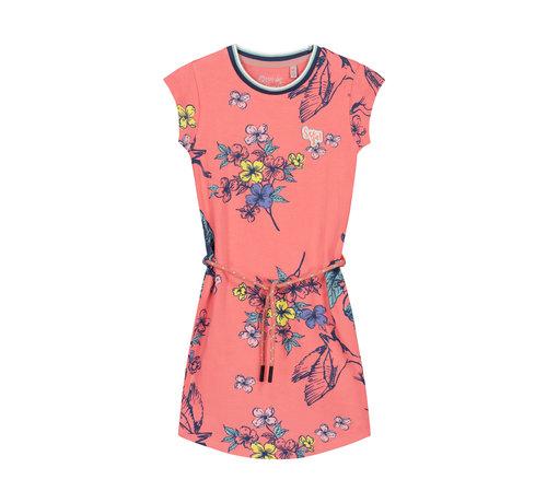 Quapi Quapi roze kleedje met bloemen