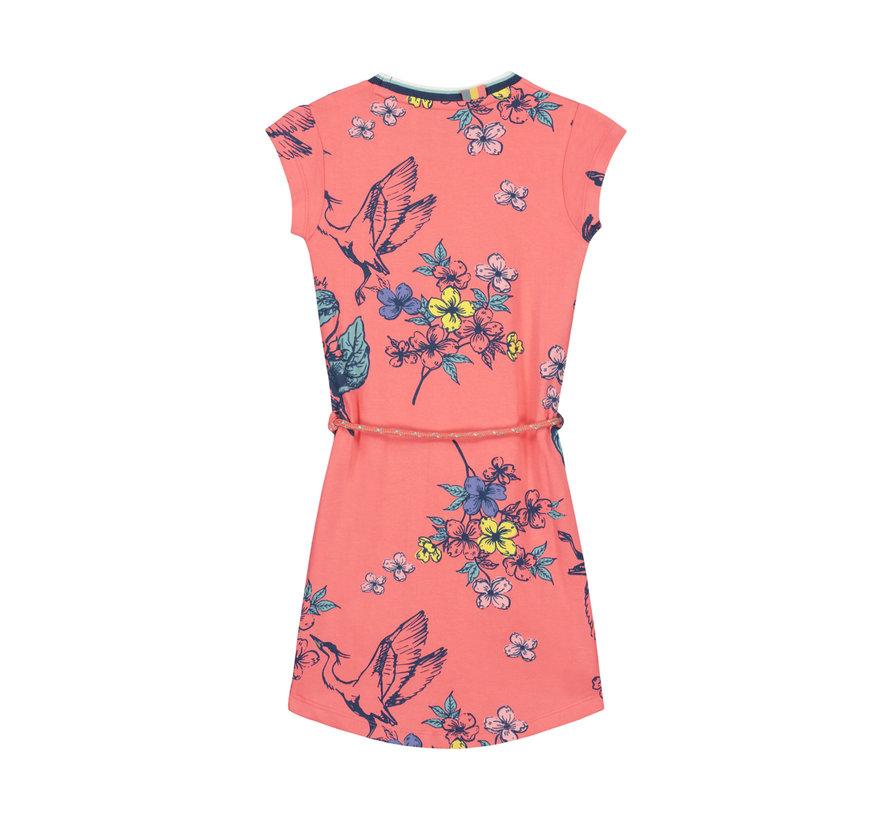 Quapi roze kleedje met bloemen