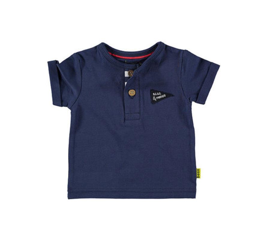 B.E.S.S blauw t-shirt