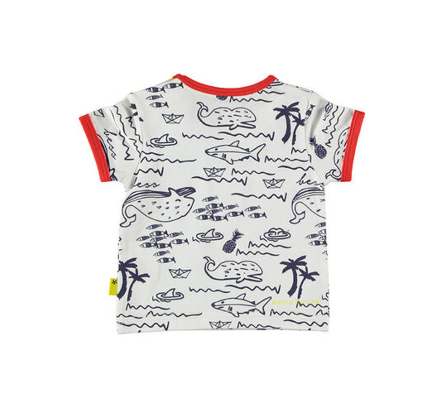 Bess wit t-shirt walvis