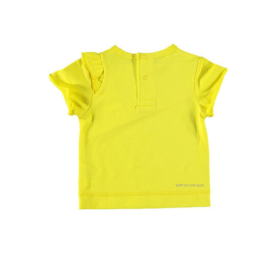 B.E.S.S geel t-shirt ruffle