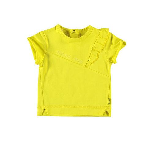 B.e.s.s. B.E.S.S geel t-shirt ruffle
