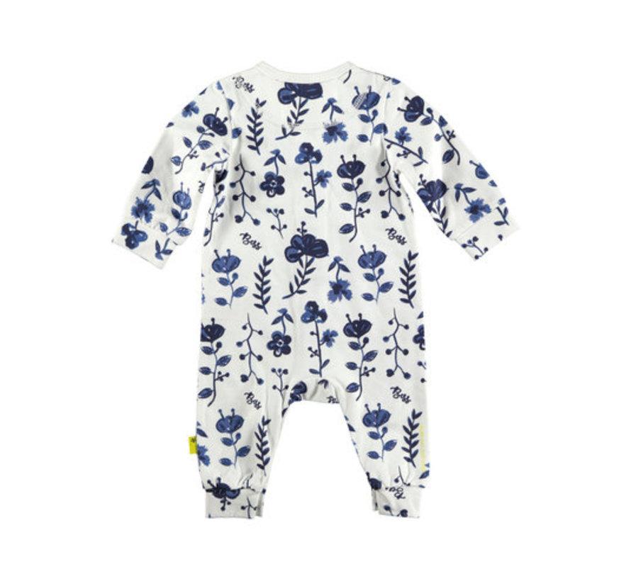 B.E.S.S witte babysuit met bloemen