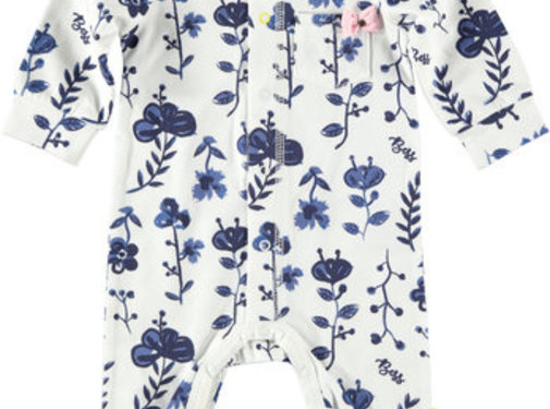 B.ES.S B.E.S.S witte babysuit met bloemen