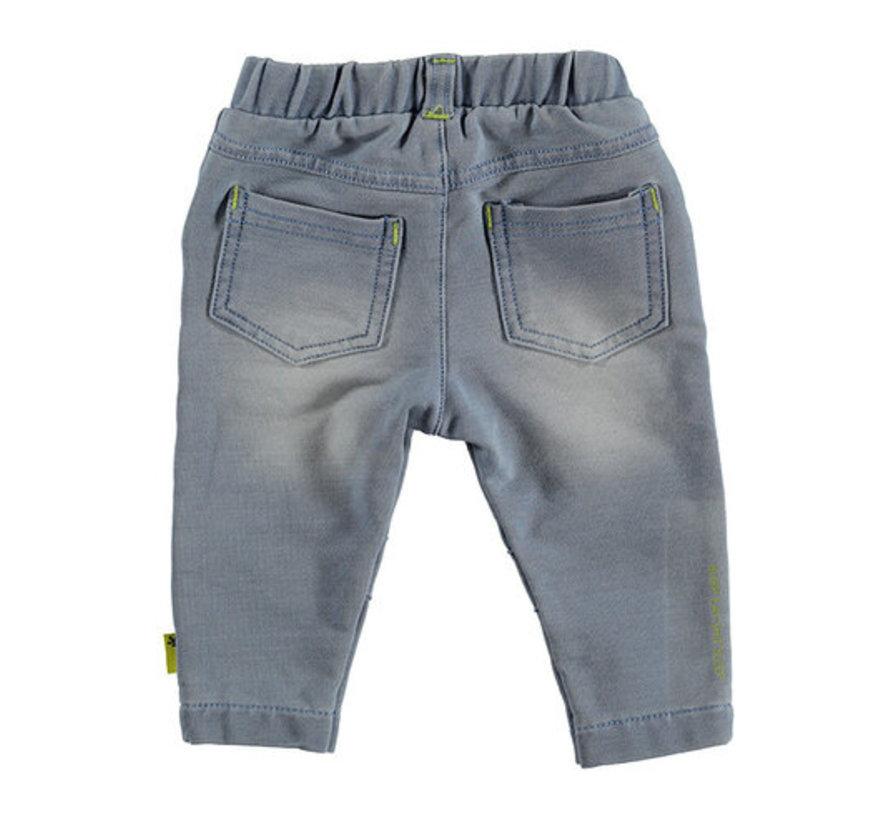 B.E.S.S blauwe jogdenim broek