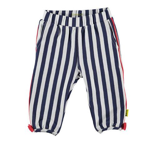 B.ES.S B.E.S.S wit, blauw gestreepte broek