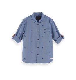 Scotch&Soda Shrunk hemd blauw