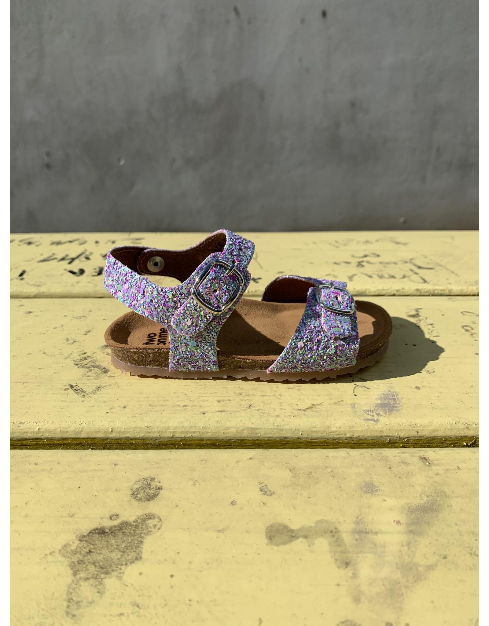 Two Con Me sandaal glitter