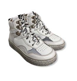Momino witte sneaker wit reflector