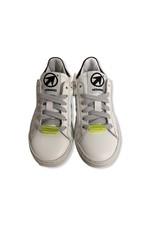 Momino Momino witte sneaker fluo detail