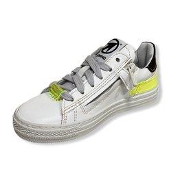 Momino Momino witte sneaker fluo detail 27 tot 32