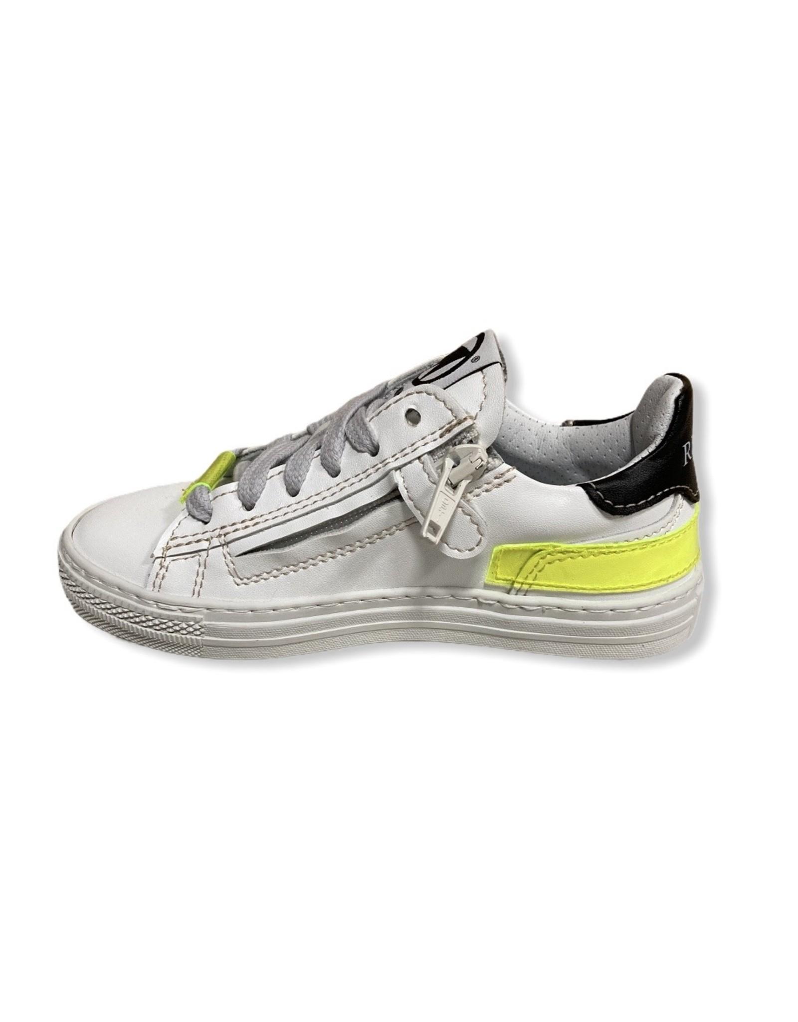 Momino witte sneaker fluo detail
