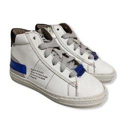 Momino Momino witte sneaker blauw