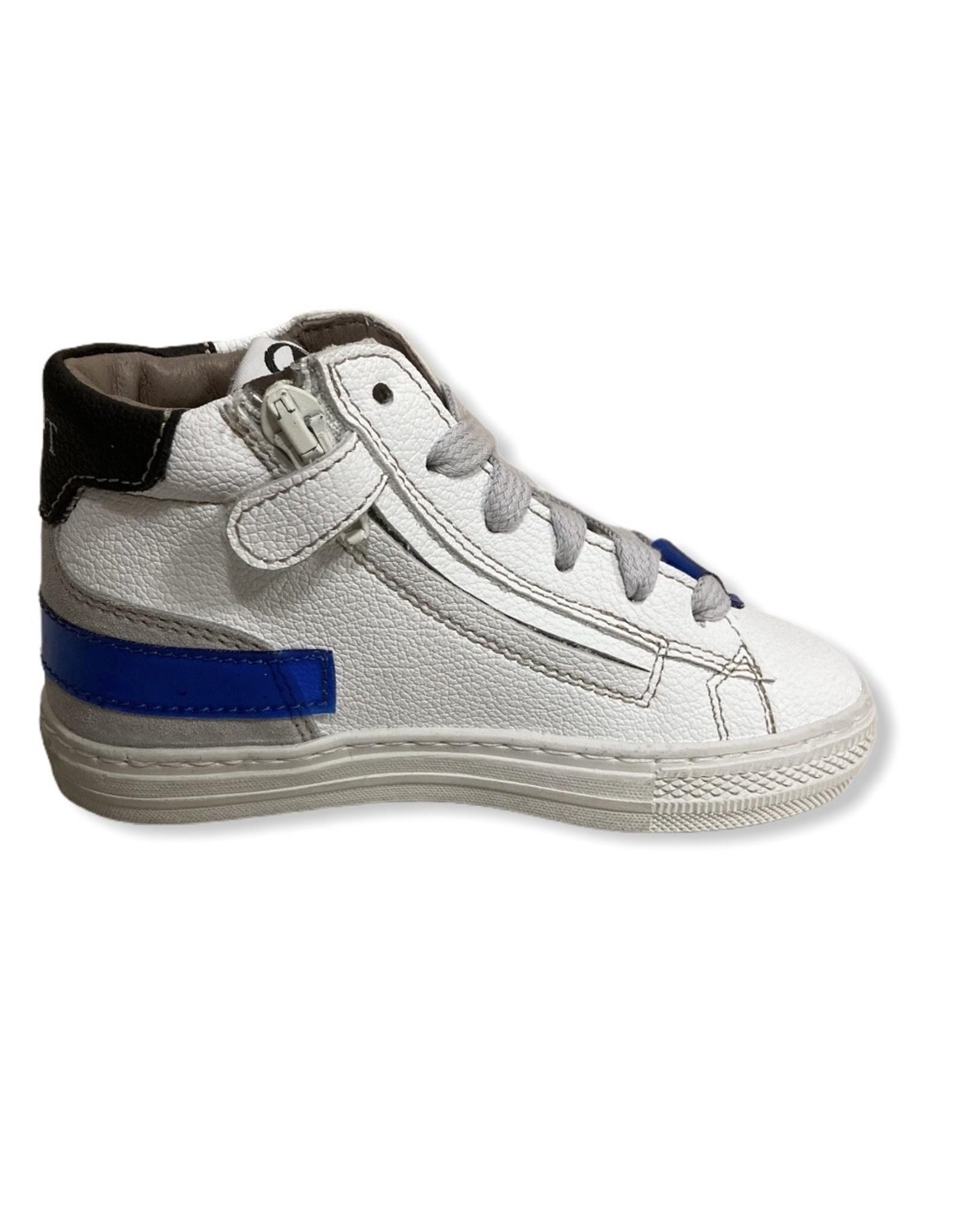 Momino FW20 witte sneaker blauw