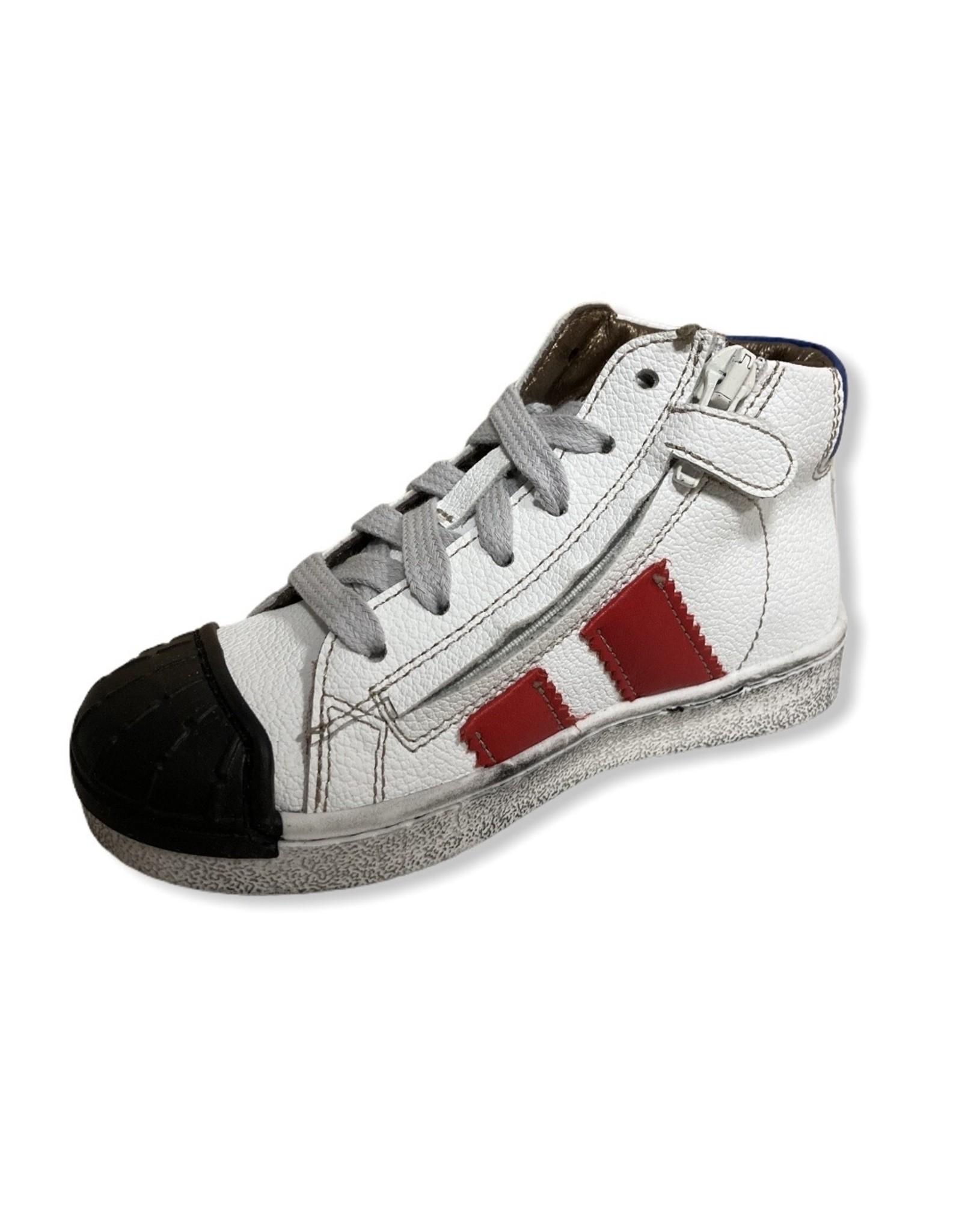 Momino Momino FW20 witte sneaker zwarte tip
