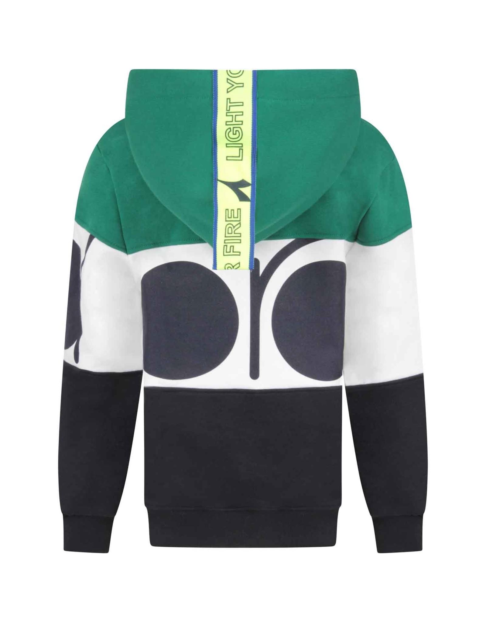 Diadora FW20 25841 hoodie green/blue