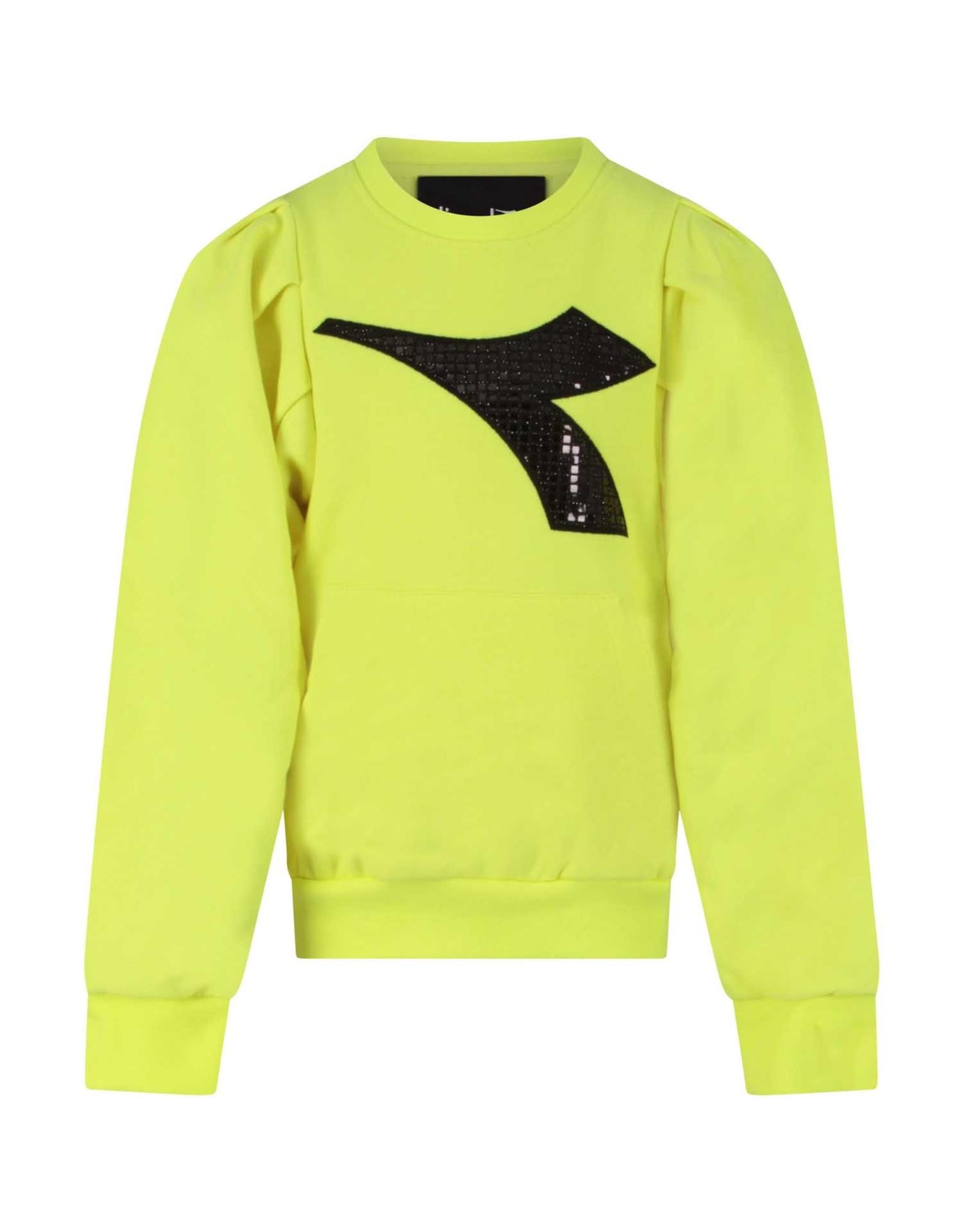 Diadora FW20 26298 sweatshirt fluo yellow