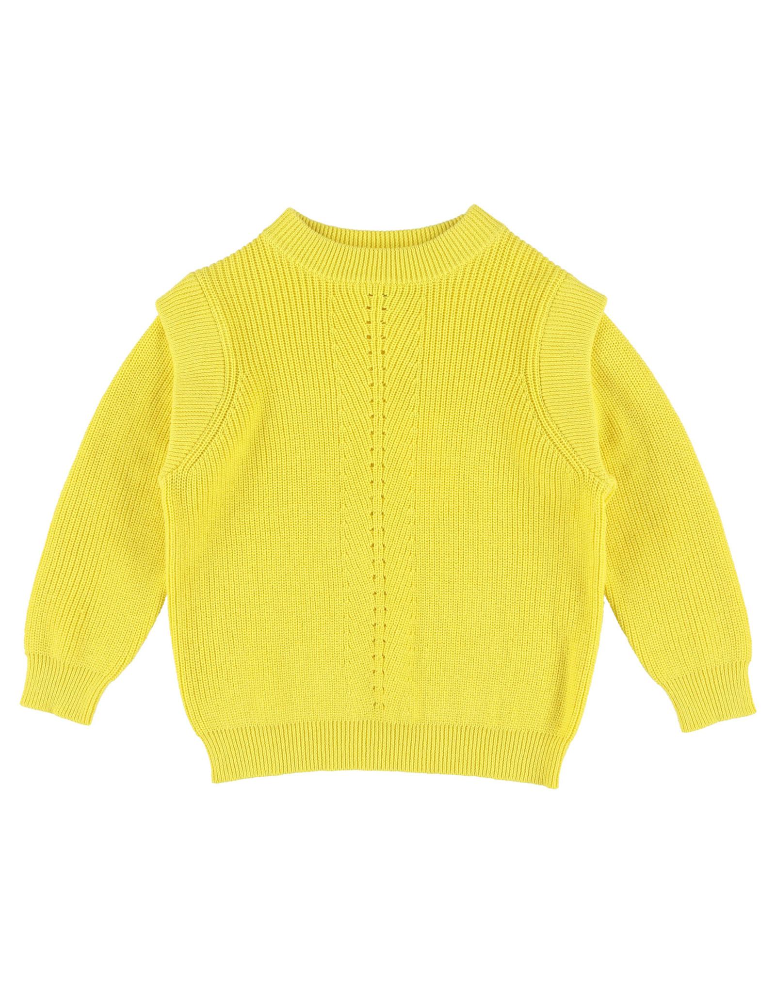 Simple Kids SS21 Buffalo knit sweater yellow