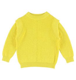 Simple Kids Simple Kids SS21 Buffalo knit sweater yellow